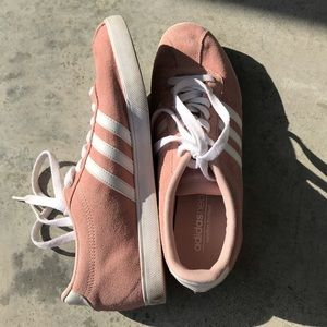 Pink Adidas Court-set Sneakers